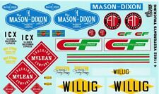 TRUCKING LOGOS - TRAILERS SCREEN-PRINTED 1/25th - 1/24th Scale DECAL GOFER