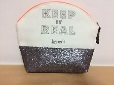 Benefit Cosmetics Keep It Real Makeup Gift Glitter & Canvas Bag