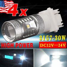4x Super White 3157 High Power 80W SMD LED Back up Fog Lights 3156 4057 4157 US