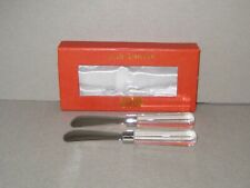 Oleg Cassini Crystal Clear Cheese Spreader Knife Set Lucy 161390 New In Box