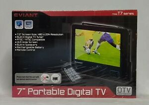 """Eviant T7 Series 7"""" LCD Portable Digital TV - New Sealed Box"""