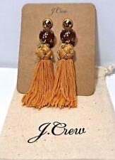 "3/4"" & Bag Gold Yellow Msrp $49.50 J Crew Crystal-Studded Bead Tassel Earrings 4"