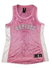 Toronto Raptors Adidas Women Player ID Pink Glitter Fitted Sleeveless Jersey NBA
