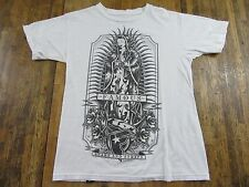 """Famous Stars and Straps """"Blessed Mother"""" Graphic White T Shirt Size S"""