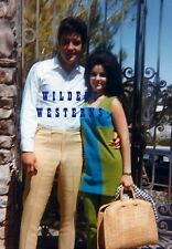 PRISCILLA PRESLEY rare CANDID PHOTO w/ ELVIS in Palm Springs, CA