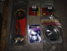 8Ff95 Assorted Plumbing Hardware: Faucet Hole Covers, Strainer Basket, Triplever