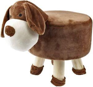 Dog Stool Kids Chair Grey Footstool Footrest Foot Rest Bedroom Furniture Child