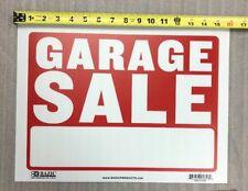 Garage Sale Exterior Sign Flexible Plastic Red & White Sheet 16x12 Inch 1Pcs