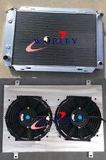 FOR FORD MUSTANG 1979-1993 80 81 82 83 84 3-Row Aluminum Radiator & Shroud & Fan