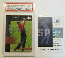 Tiger Woods Buyback 2001 RC Auto S/N 3/3 2002 SP Game Used Golf PSA 5 & 10 POP 1