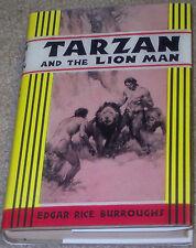 TARZAN &THE LION MAN Edgar Rice Burroughs 1948 ERB, INC facsimile dust jacket