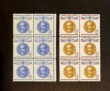 US Stamps, Scott #1165 & 1166 Gustaf Mannerheim 1960 4c & 8c Blk's VF/XF M/NH
