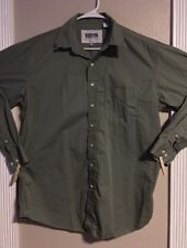 EUC>>Men's>>Shirt>>Resistol>>Size L>>Long Sleeve>>Button Down>>100% Cotton