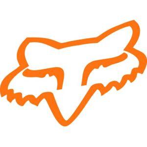 Fox Head Aufkleber orange  Größe: 5,5 x 3,5cm