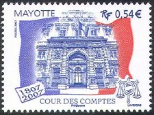 Mayotte 2007 Court of Auditors 200th Anniversary/Building/Flag/Scales 1v n42716