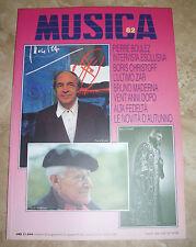 RIVISTA MUSICA N.82 - PIERRE BOULEZ - OTTOBRE / NOVEMBRE 1993 (MU2)