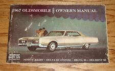 Original 1967 Oldsmobile Delta 88 Ninety-Eight Delmont Owners Operators Manual