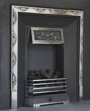 Brighton-gas Coal Fire Place-decorative Cast Iron Fascia Nectre 420C Heater-log