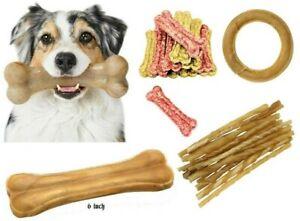 """Bulk Pack Dogs Natural Rawhide Chews Pressed Knuckle Bones Treat Rings 3.5"""" 5"""""""