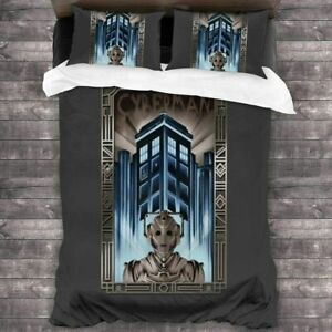 3D Doctor Who Bedding Set Cyber Man Comforter Cover Duvet Cover Pillow Case