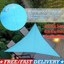 Triangular Waterproof Sun Shade Sail Garden Patio Awning Canopy UV 3/4/6m