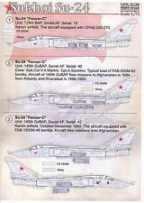 Print Scale Decals 1/72 SUKHOI Su-24 FENCER Russian Jet Fighter