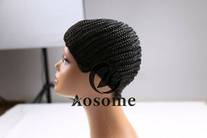 Cornrow Wig Cap With Combs Adjustable for Crocheting Braids Synthetic Wig Strap