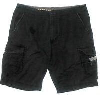 Men's 40 UNIONBAY Palm Vintage Cargo Black Cotton Shorts