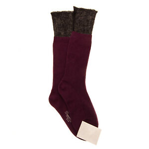 RRP €115 DSQUARED2 Knee-High Socks Size M Cashmere & Wool Blend Two Tone Ribbed
