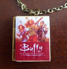 Buffy the Vampire Slayer book Locket Bronze necklace - Willow, Zander, Angel,