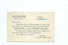 Cartolina Autografo Diret. Antonio Curti Invito Rivista Storica Napoleone Milano