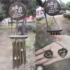 Neu Windspiel Klangspiel 8 Klangröhren Feng Shui Windharfe Haus Garten Deko Mode