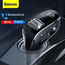 Baseus Bluetooth 5.0 FM Transmitter Auto MP3 Player AUX Kabel Freisprechanlage
