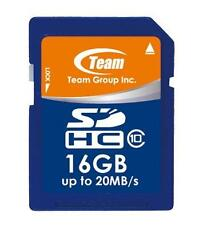 16GB Team SDHC CL10 Memory Card (read speed up to 20MB/sec)