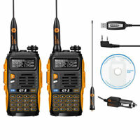 2x Baofeng *GT-3 MKII* Dual-Band VHF/UHF FM Ham Amateur Two-way Radio + Cable&CD