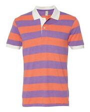 Alternative Mens Size S-2XL Eco Jersey Ugly Stripe Polo Sport T-shirt Apparel