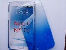 GALAXY NOTE 2 SAMSUNG N7100 ETUI HOUSSE COQUE RIGIDE RAIN DROP EFFET PLUIE, BLEU