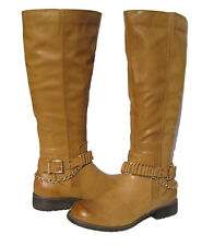 New Women's Winter Knee High Tan Camel Riding Boots Lug snow Ladies size 6
