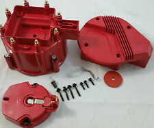 Red Chevy Pontiac Buick Olds GM V8 HEI Performance Distributor Cap & Rotor Kit