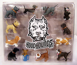 HOOD HOUNDS Series 3 12 Figures Assortment Dogs Display RARE Out of Production!!