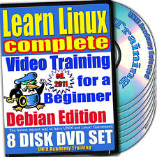Learn Linux Complete, 8-DVD Video Training Debian Set