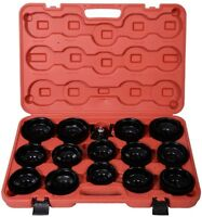 30 PCS Cup Type Oil Filter Cap Wrench Socket Removal Tool Set W/ Case New