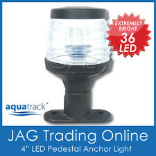 "12V 36-LED 4"" BLACK ANCHOR PEDESTAL WHITE LIGHT-Boat/Stern/Navigation/Masthead"