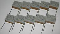 10 X ERO 1uF Capacitor - 250 VAC - Radial Metalized Polyester Capacitors - 1 uF