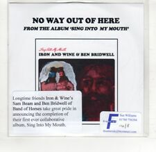 (HS151) Iron And Wine & Ben Bridwell, No Way Out Of Here - 2015 DJ CD