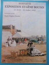 BOUDIN Eugène Affiche originale Grenier à Sel HONFLEUR 1992 art Impressionnisme