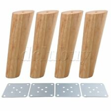 4pcs 18cm Height Wood Oblique Tapered Furniture Feet Tea Table Legs