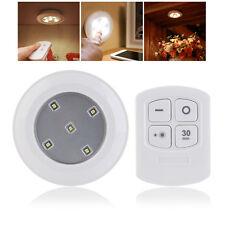 2* Wireless Kitchen Counter LED Under Cabinet Closets Lighting Puck Soft Light