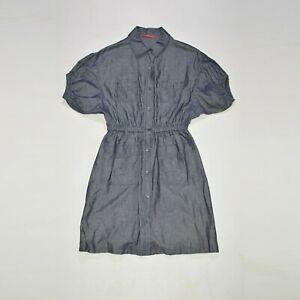 Prada Cotton Linen Dress Made in Italy Size 44