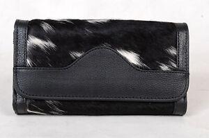 100% Real Cowhide Wallet Real Leather Hair ON Western Ladies Wallets  SA-7111